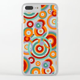 Colorful circles Clear iPhone Case