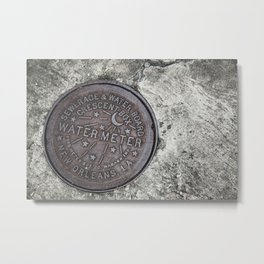 New Orleans Watermeter in Color Metal Print