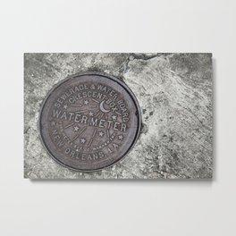 New Orleans Watermeter in Color Metal Print