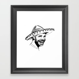 Drake in Sombrero Framed Art Print