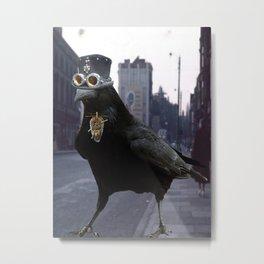 Steampunk Raven Metal Print