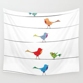 [ birds on wire ] Wall Tapestry