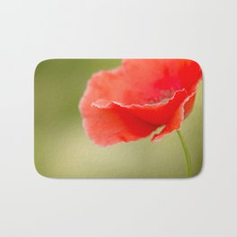 Miss you so much Red Poppy #decor #society6 Bath Mat