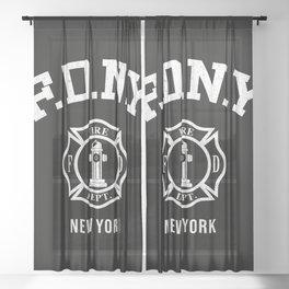 Firefighter Sheer Curtain