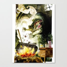Alligator witch Canvas Print