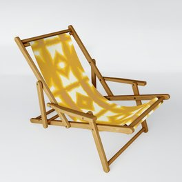 Yellow Pima Shibori Sling Chair