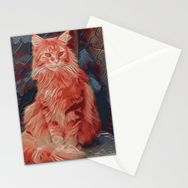 Maine Coon Cat IV Stationery Cards