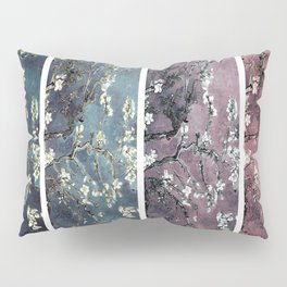Vincent Van Gogh Almond Blossoms Panel Dark Pink Eggplant Teal Pillow Sham