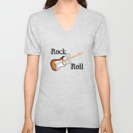 Rock and Roll Guitar Unisex V-Neck
