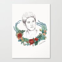 niall Canvas Prints featuring Niall  by Coconut Wishes