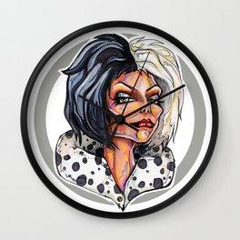 Dark Diva – Cruella De Vil Wall Clock