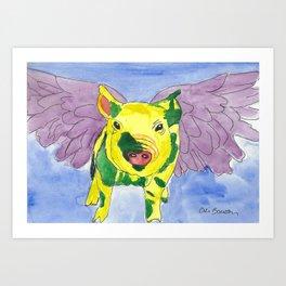 Ozzy the Pigasus Art Print