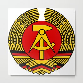 Stylized National Emblem of East Germany  Metal Print