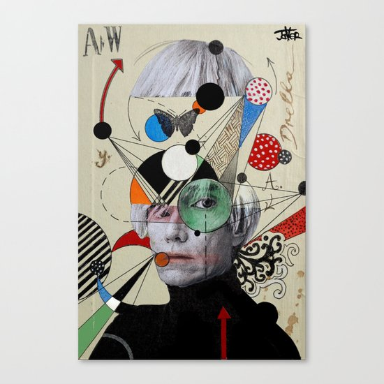 anti pop andy Canvas Print