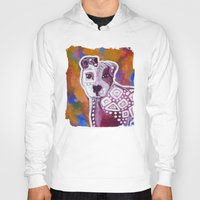 pitbull Hoodies featuring Pitbull Art by Just Bailey Designs