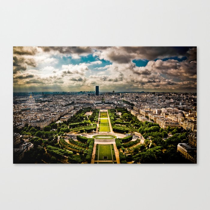 Paris from the Eiffel Tower Canvas Print