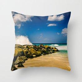 Barbados Jetty Throw Pillow