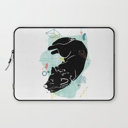 Dreaming wolf illustration Laptop Sleeve