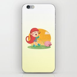 Lilly and Piggy iPhone Skin