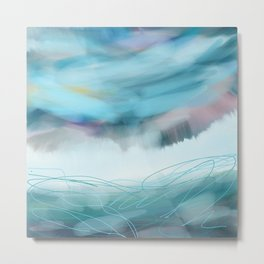 Stormy Ocean Metal Print