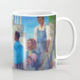 African American Masterpiece 'Life - The Pursuit of Happiness' by Vertis Hayes 1937 Coffee Mug