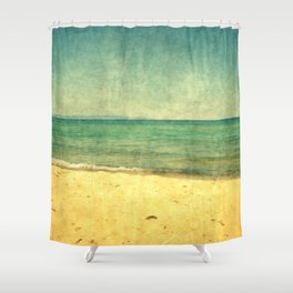 Seascape Vertical Abstract Shower Curtain