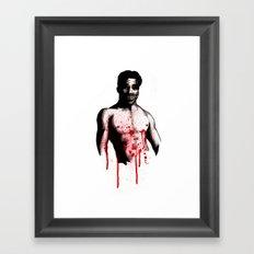 Bloody Mott Clown Framed Art Print