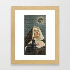 NUN WITH A GUN Framed Art Print