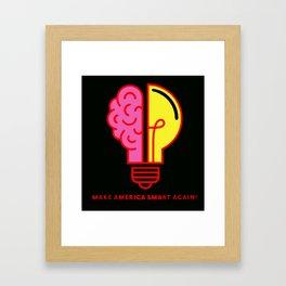 Make America Smart Again Science Brain Framed Art Print