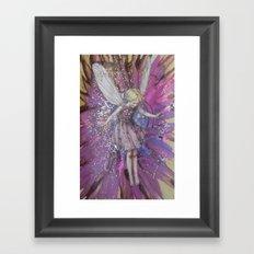 Pink Lady Garden Fairy Art Framed Art Print
