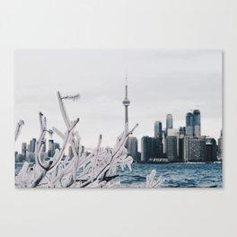 Icy Toronto Canvas Print