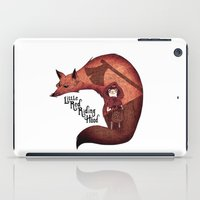 red riding hood iPad Cases featuring Little Red Riding Hood by olivier silven