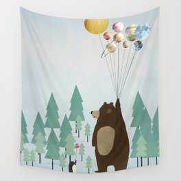 the astrology bear Wall Tapestry