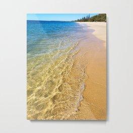 Crystal Clear - Woodgate Beach QLD Metal Print