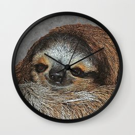 SLOTH LOVE Wall Clock