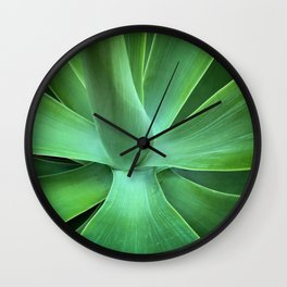 Green Leaves Wall Clock
