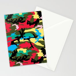 Multicolors Camouflage Stationery Cards