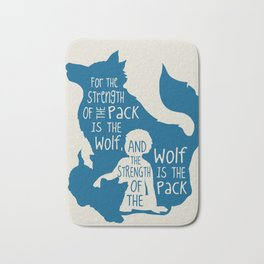 Strength of the Pack - Wolf and Child Bath Mat