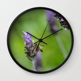 Bee and lavender Wall Clock