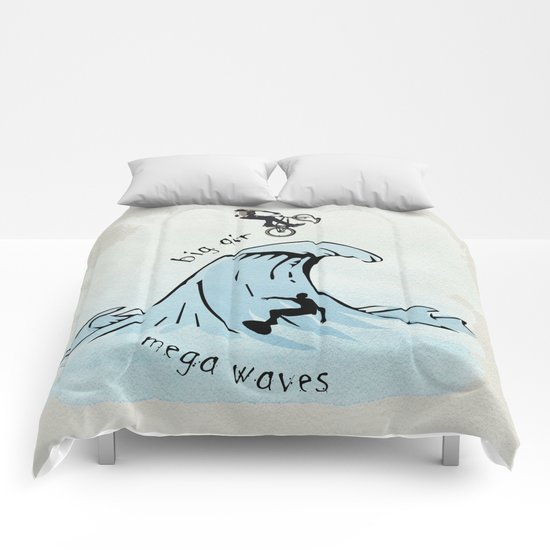 big air, mega waves Comforters