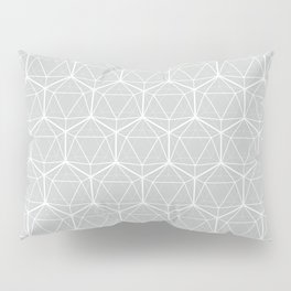 Icosahedron Soft Grey Pillow Sham