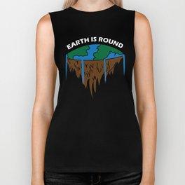 Flat Earth Theory Biker Tank