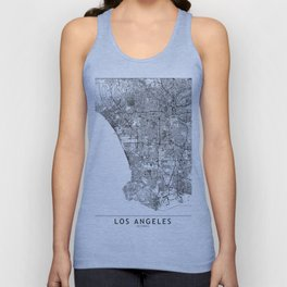 Los Angeles White Map Unisex Tank Top