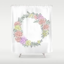 Friday fresh collection , pastel colors flowers . Home decor Shower Curtain