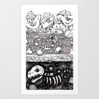 velvet underground Art Prints featuring Velvet Underground by Khaedin