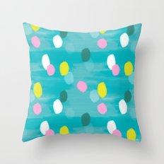 Spotty Green Throw Pillow