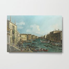 A Regatta on the Grand Canal by Canaletto Metal Print