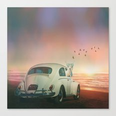 NEVER STOP EXPLORING A SUNDOWN Canvas Print