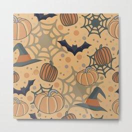 Halloween texture Metal Print