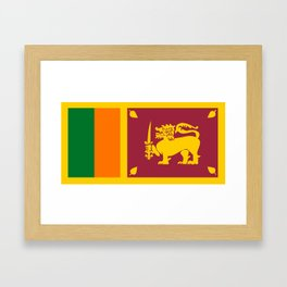 Sri Lanka country flag Framed Art Print